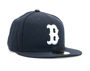 Kšiltovka New Era 59FIFTY The League Essential Boston Red Sox Navy / Optic White Fitted