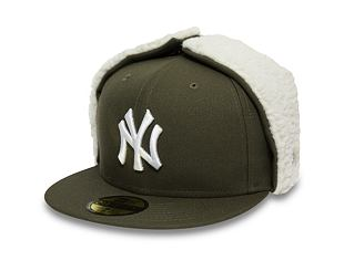 Kšiltovka New Era 59FIFTY Dogear League Essential New York Yankees New Olive/White