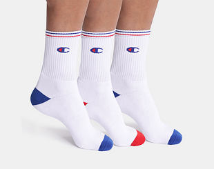 Ponožky Champion 3P CREW SOCKS PERFORMANCE White