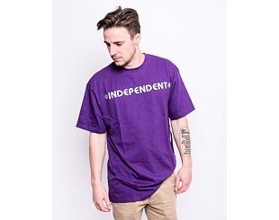 Triko Independent Bar Cross T-Shirt Deep Purple