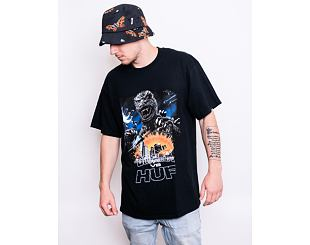 Triko Huf Vs Godzilla Tour SS T-Shirt Black