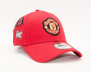 Kšiltovka New Era 9FORTY Side Multi Patch Manchester United Scarlet