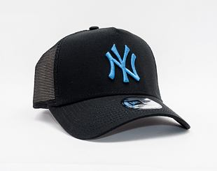 Kšiltovka New Era 9FORTY A-Frame Trucker League Essential New York Yankees Snapback Black / DTL
