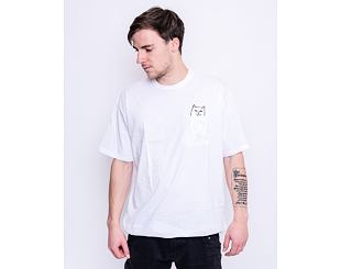 Triko RIP N DIP Lord Nermal Pocket Tee White RND0205