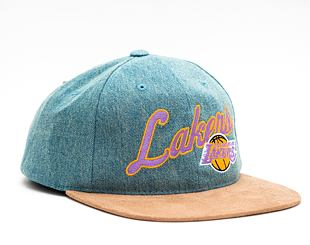 Kšiltovka Mitchell & Ness INTL853 Los Angeles Lakers Denim Script Deadstock Snapback