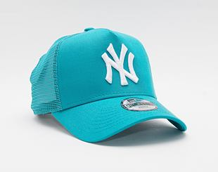 Dětská Kšiltovka New Era 9FORTY Kids A-Frame Trucker MLB Tonal Mesh New York Yankees Snapback Teal