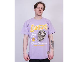 Triko Mitchell & Ness Los Angeles Lakers Pastel Rings Tee Purple