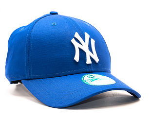 Kšiltovka New Era 9FORTY League Basic New York Yankees Strapback Light Royal / White