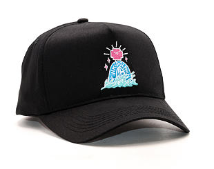 Kšiltovka Pink Dolphin Tombstone 5-Panel Structured Black Snapback