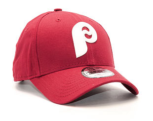 Kšiltovka New Era Flock Logo Philadelphia Phillies 9FORTY Carmine Snapback