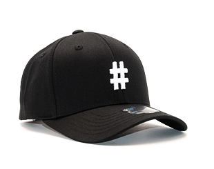 Kšiltovka State of WOW Hashtag SC9201-990# Baseball Cap Crown 2 Black/White Strapback