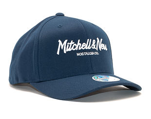 Kšiltovka Mitchell & Ness Pinscript High Crown 110 Navy/White Snapback