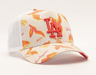 Kšiltovka New Era 9FORTY A-Frame Trucker Los Angeles Dodgers Desert Island White/Camel/Fire Red