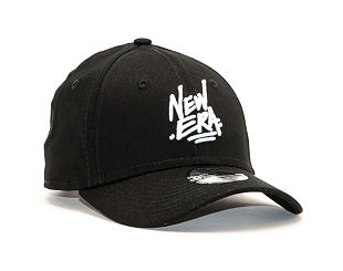 Dětská Kšiltovka New Era 9FORTY Script Child Black / White Strapback