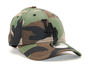 Kšiltovka New Era 9FORTY Camo Essential Los Angeles Dodgers Woodland Camo Strapback