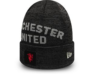Kulich New Era Manchester United Script Cuff Knit Grey Heather