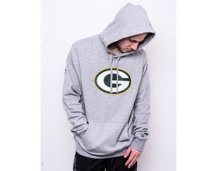 Mikina New Era Green Bay Packers Team Logo Heather Grey