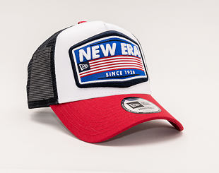 Kšiltovka New Era 9FORTY Trucker USA Patch White