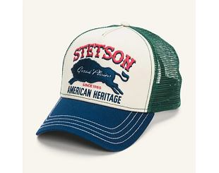 Kšiltovka Stetson Trucker Cap Great Plains 7751152 Geen/Stone/Blue