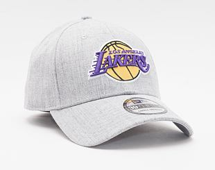 Kšiltovka New Era 39THIRTY Heather Los Angeles Lakers Stretch Fit Gray