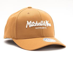 Kšiltovka Mitchell & Ness Pinscript High Crown 110 Wheat Snapback