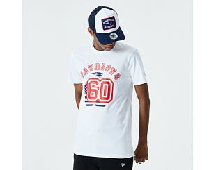 Triko New Era New England Patriots NFL Flag Number Tee White