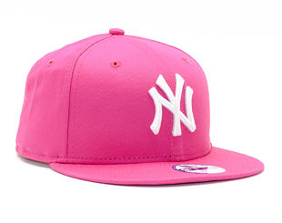 Dětská kšiltovka New Era 9FIFTY Kids MLB League Basic New York Yankees Snapback Pink / White