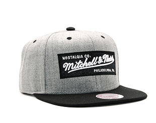Kšiltovka Mitchell & Ness 2 Tone Label Grey/Black Snapback