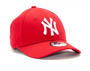 Dětská Kšiltovka New Era League Basic Child New York Yankees Scarlet/White 9FORTY CHILD Strapback