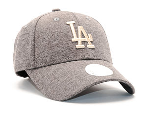 Dámská Kšiltovka New Era Jersey Essential Los Angeles Dodgers 9FORTY Grey Heather/Khaki Strapback