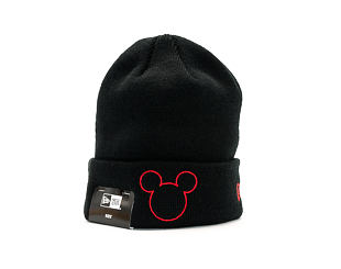 Dětský Kulich New Era Disney Knit Mickey Mouse Youth Black/Scarlet