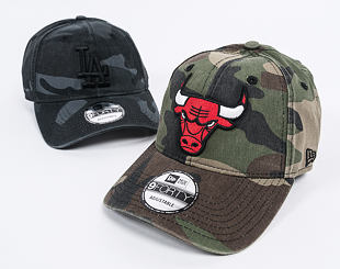 Kšiltovka New Era Washed Camo Chicago Bulls 9FORTY Woodland Camo Strapback