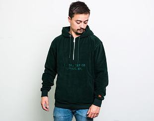 Mikina New Era Branded Cap Co. Half Zip Hoody Dark Green