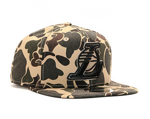 Kšiltovka New Era 9FIFTY Los Angeles Lakers Original Fit Dark Green Camo/Black Snapback