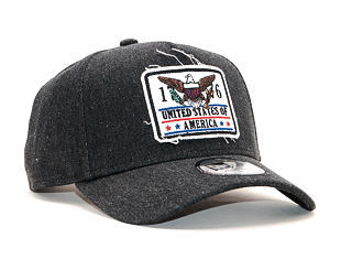 Kšiltovka New Era 9FORTY A-Frame USA Denim Black Snapback