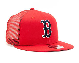 Kšiltovka New Era 9FIFTY Trucker Boston Red Sox Essential Scarlet/Official Team Colors