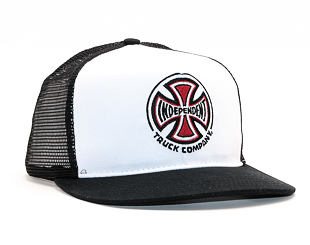 Kšiltovka Independent Trucker Co Mesh White/Black Snapback