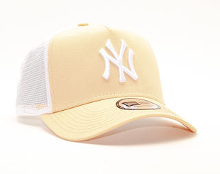 Kšiltovka New Era 9FORTY A-Frame Trucker New York Yankees League Essential Peach/White