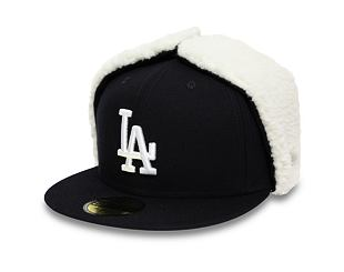 Kšiltovka New Era 59FIFTY Dogear League Essential Los Angeles Dodgers Navy/White