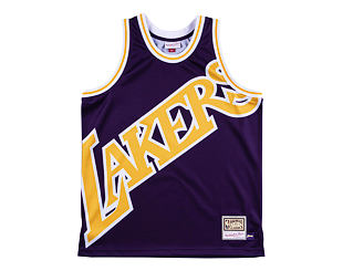 Dres Mitchell & Ness tank top Los Angeles Lakers purple Big Face Jersey