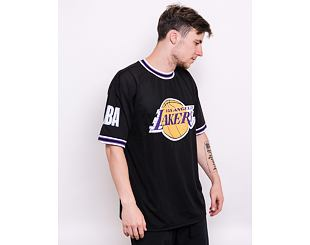 Triko New Era NBA Oversized Applique Tee Los Angeles Lakers Black