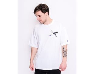 Triko Champion Crewneck T-Shirt White 214419 WW010