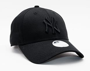 Dámská kšiltovka New Era 9FORTY Womens MLB Essential wmns New York Yankees Strapback Black / Black