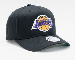 Kšiltovka Mitchell & Ness Los Angeles Lakers 537 Team Logo High Crown Black