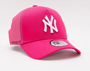 Kšiltovka New Era 9FORTY A-Frame Trucker MLB Tonal Mesh Trucker New York Yankees Snapback Pink