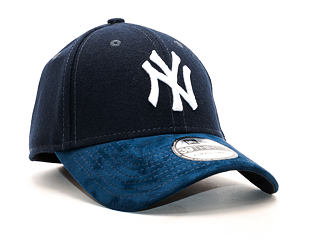 Kšiltovka New Era Team Melton Suede New York Yankees Navy 39THIRTY Stretchfit