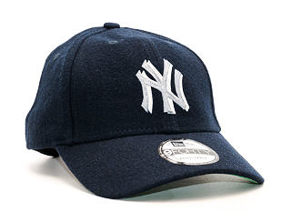 Kšiltovka New Era Wool Felt Logo New York Yankees Navy 9FORTY Strapback