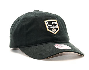 Kšiltovka Mitchell & Ness LA 50th Curved Visor Los Angeles Kings Black Strapback