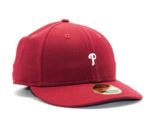 Kšiltovka New Era Mini Logo Philadelphia Phillies 59FIFTY LOW PROFILE Burgundy/White