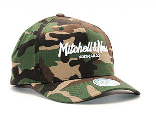 Kšiltovka Mitchell & Ness Pinscript High Crown 110 Flex-Snap Woodland Camo Snapback